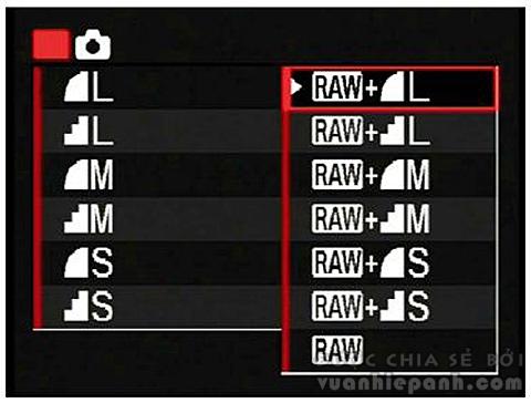 Kết quả hình ảnh cho vuanhiepanh.com chế độ RAW