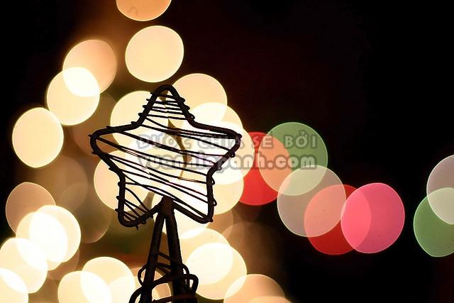 chụp ảnh bokeh đêm giáng sinh