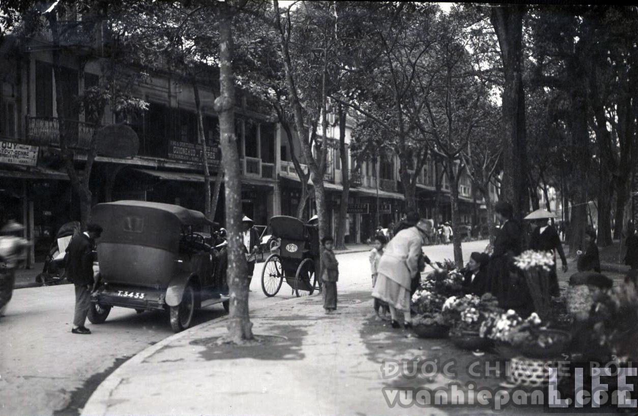 Chợ hoa góc hàng Khay - Đinh Tiên Hoàng.